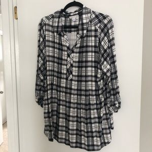 Dress Barn plaid shirt size 2X